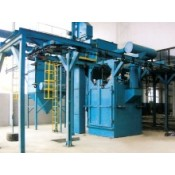 Multiple rotating shot blasting machines
